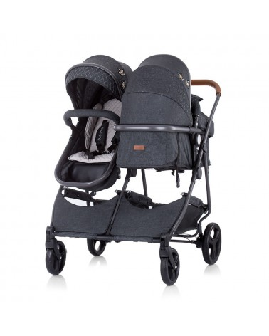 CARRITO CONVETIBLE GEMELAR DÚO SMART GRAPHITE LINEN DE CHIPOLINO