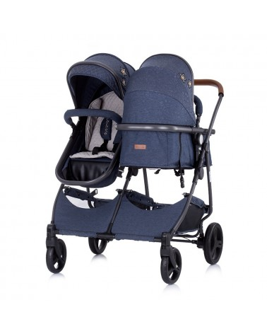 CARRITO CONVETIBLE GEMELAR DÚO SMART DENIM DE CHIPOLINO
