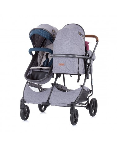 CARRITO CONVETIBLE GEMELAR DÚO SMART BOY/GIRL LINEN DE CHIPOLINO