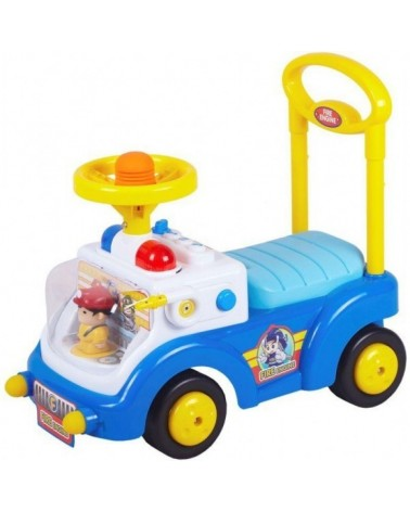 ANDADOR COCHE RIDE ON CAR FIREMAN AZUL CHIPOLINO