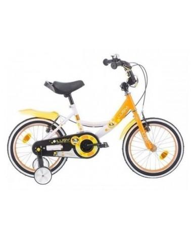 "Bicicleta infantil de 14"" LUSY color naranja"