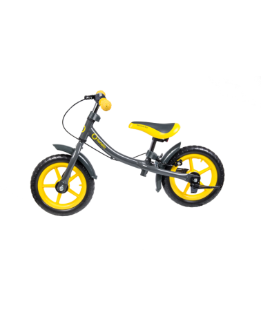 BICICLETA INFANTIL + CASCO LIONELO DAN PLUS YELLOW