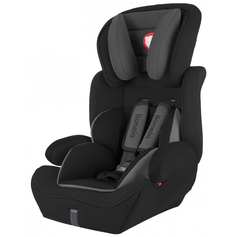 Lionelo silla de coche levi plus black grupo 1 2 3 for Sillas de coche grupo 0 1 2 3