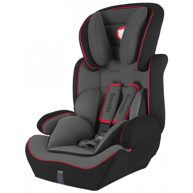 Lionelo silla de coche levi plus black red grupo 1 2 3 for Sillas de coche 0 1 2 3