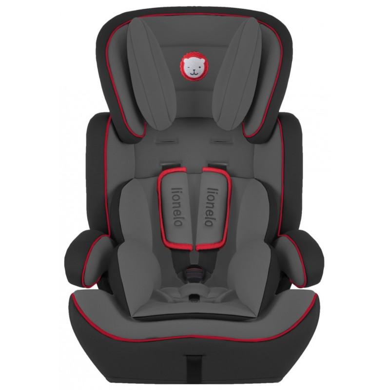 Lionelo silla de coche levi plus black red grupo 1 2 3 for Silla coche grupo 0 1 2 3
