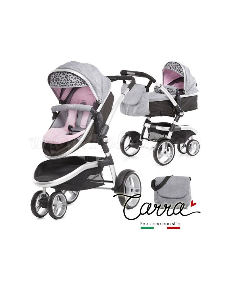 Trío Carra Unica Leopard Pink