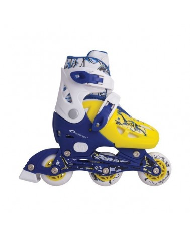 PATINES JUNIOR NIPPER AZUL AMARILLO Y BLANCO SPOKEY