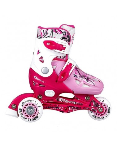 PATINES JUNIOR NIPPER ROSA Y BLANCO SPOKEY